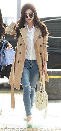 How to wear fall fashion outfits with casual style trends Snsd Fashion, Asian Fashion, Fashion Outfits, Kpop Outfits, Mode Outfits, Casual Outfits, Women's Casual, Yuri, Korean Airport Fashion
