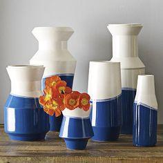Dipped Blue Vases #WilliamsSonoma