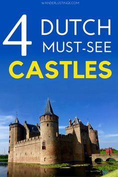 The Netherlands has beautiful castles perfect for a day trip from Amsterdam or Utrecht. Here are the best 4 Dutch castles to inspire you in your travels in the Netherlands or Europe. For European castle lovers!: