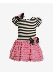 BONNIE JEAN TODDLER & GIRLS STRIPE DROPWAIST EYELASH DRESS #stagestores #parisienne