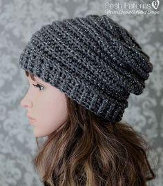Crochet PATTERN Easy Crochet Pattern Crochet Slouchy Hat