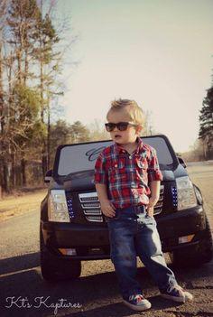 Car | Cadillac | boy | toddler | photo | Kts Kaptures