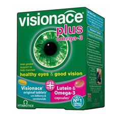 Visionace Plus eye health supplement with lutein and omega 3