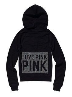 Bling Perfect Zip Hoodie - Victoria's Secret Pink® - Victoria's Secret.      Finally got it!