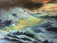 "Saatchi Art Artist jixing sun; Painting, ""Freedom of the sea #1"" #art"