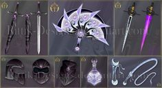 Commissions by Rittik-Designs on DeviantArt Anime Weapons, Fantasy Weapons, Fantasy Jewelry, Fantasy Art, Espada Anime, Devian Art, Sword Design, Magical Jewelry, Weapon Concept Art