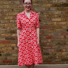 Harriet's Vintage Shirt Dress Sew Over It Patterns, Short Sleeve Dresses, Dresses With Sleeves, Vintage Shirts, Cool Style, Wrap Dress, Shirt Dress, Sewing, Fun