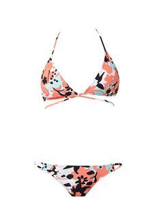 56bfb02192  DVFlovesROXY Beach Garden  DVF print  amp  Crossover Tri  Bikini Floral Triangle  Bikini