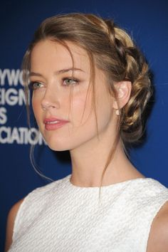 Amber Heard at the Hollywood Foreign Press luncheon. Hair by Jenny Cho.