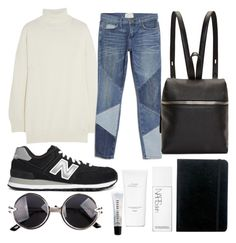 """""""Untitled #152"""" by foxybot ❤ liked on Polyvore featuring Gucci, Current/Elliott, New Balance, Kara, NARS Cosmetics, Hermès and Bobbi Brown Cosmetics"""