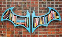 Organize your personal manifestos and other literary masterpieces in true Gotham fashion with the Batman Arkham Asylum bookshelf. Each handmade bookshelf...