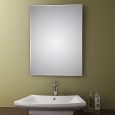 """Belvedere 32 x 24-inch Frameless Wall Mirror (32""""x24"""" Frameless Mirror), Clear (Glass)"""