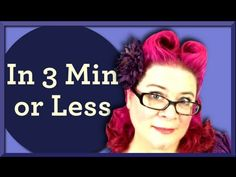 Heart Shaped Victory Rolls Pinup Hairstyle in 3 Minutes or Less
