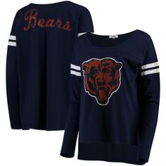 Chicago Bears Touch by Alyssa Milano Women's Free Agent Long Sleeve T-Shirt – Navy