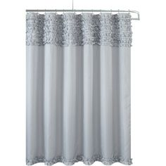 This shower curtain looks charming when covering the tub or when hung entirely at one end. It can be used to complement other bathroom accessories as well. The curtain rings can easily pass through the curtain making it easy to install.