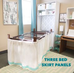 Finally a bed skirt designed especially for a dorm bed! Our bed skirts tie onto the mattress springs to give you a perfect length every time. No need to pay for
