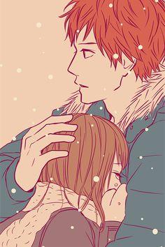 Yess i like Suwa and Naho together. not Naho and Kakeru Manga Anime, Manga Art, Anime Art, Manga Love, Anime Love, Anime Guys, Photo Couple Amoureux, Takano Ichigo, The Ancient Magus Bride