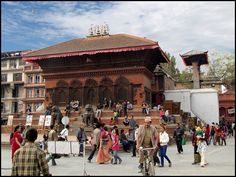 Darbar Square in Kathmandu, the capital of the Himalayan nation of Nepal