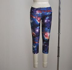4b06f6c199099 Hot Yoga Fitness Capri Pants Blue Galaxy Item 4651 #yogafitness