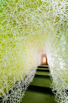 Straw Sculpture, Maker Studios, New Art, Children's Museum, York, Exhibit, Basement, Projects, Bridge
