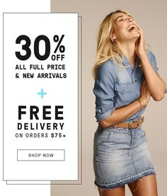 30% OFF All Full Price and New Arrivals @ Just Jeans - Bargain Bro