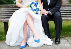 Blue Bridal Flats | Nicole Dixon Photography | Blog.theknot.com