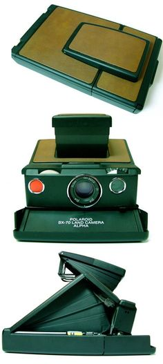 Polaroid SX-70  It's just too cool, so much better looking than the digital crap they've got now days. A smart company would combine a digital camera with one of these and corner the aging hipster market.