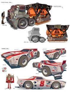Artes de Motorcity, do Disney XD (post Disney Illustration, Illustrations, Disney Xd, Disney Cars, Science Fiction, Prop Design, Car Drawings, Automotive Design, Retro Futurism