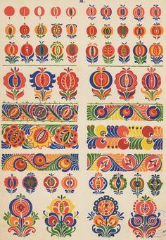 """Slovak folk pattern from the book """"Slovenska ornamentika"""" (Slovenská ornamentika Kostelníček Štefan L.)"""