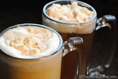 The Disney Diner: Harry Potter's Hot & Cold Butterbeer Recipes- I cant wait to make this, I loved it in Disneyworld!