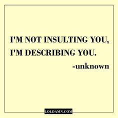 sarcastic quotes insulting describing