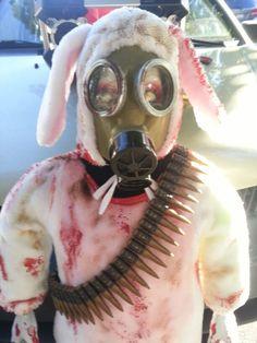 Apocalypse bunny almost done Halloween Projects, Apocalypse, Bunny, Cute Bunny, Rabbit, Rabbits, Baby Bunnies