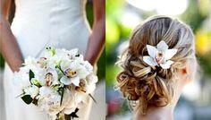 penteados com flores naturais orquideas cabelo