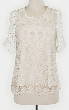 Rice Lace The Dots Top