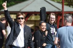 PAUL ON THE RUN: Paul McCartney visited LIPA and students have gone...