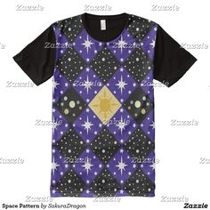 Space Pattern All-Over Print Shirt #space #science #galaxy #sun #stars