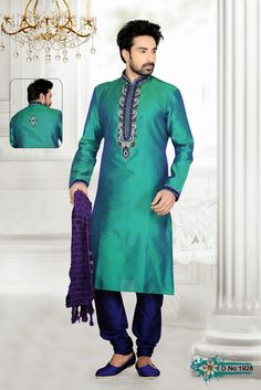 We are engaged in the manufacture and export of Designer Indo Western Suit that is suitable for weddings and festive occasions. The proposed range of suits features trendy brooch and stylishly cut trousers that add to the elegance of the entire look. We make use of premium quality fabric and advanced technology based machines for the stitching process.