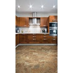 Spanish Steps Rust Porcelain Tile - 12in. x 12in. - 912101431 | Floor and Decor