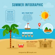 Summer infographic template Free Vector