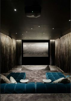 Favorite Theater Room I Think I Have Ever Seen   Love All, The Sectional  Color, The Starry Ceiling   Ahhhh ♥
