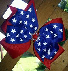 4th ofJuly Hair Bow-Stars Hair Bow-Layered Hair Bow-Patriotic Hair Bow-Memorial Day Hair Bow-Red White and Blue hair bow