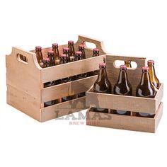 Bierkiste Bois Caisse Box 24 x 17 x 15 cm