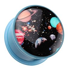 "Galaxy Daze Single Flared Ear Gauge Plug - 3/4"" (19mm) - Sold as a Pair"