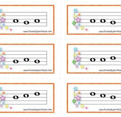 Music Flash Cards for directional reading!