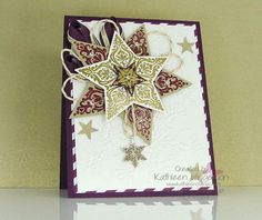 Christmas Card made with Bright & Beautiful stamp set from Stampin' Up! by Kathleen Wingerson  www.kathleenstamps.com