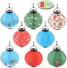 Lantern Christmas Decor, Christmas Decorations, Christmas Ornaments, Holiday Decor, Christmas Tree, Paper Lantern Lights, Paper Lanterns, White Snowflake, Party Lights