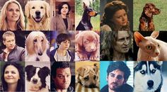 I love how Rumpel is the only one with a cat - Hook is a Husky! I love Huskies! This makes me soooo happy!!
