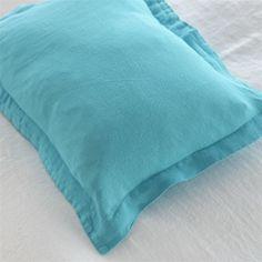 Biella Turquoise Pillowcases   Designers Guild Online