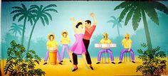 Salsa Dancer Backdrop