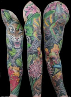 The Most Lush & Vivid Rainforest Tattoos EVER!! Wait till you see #12...   INKEDD